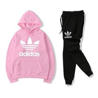 adidas - M ピンクアディダス セットアップ 上下