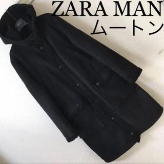 ザラ(ZARA)の◆ZARA MAN ザラ マン◆エコ ムートン フード コート 裏ボア ロング(トレンチコート)