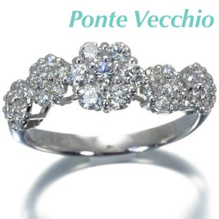 ポンテヴェキオ(PonteVecchio)の✴︎Ponte Vecchio✴︎ ダイヤモンド フラワーモチーフ リング #7(リング(指輪))