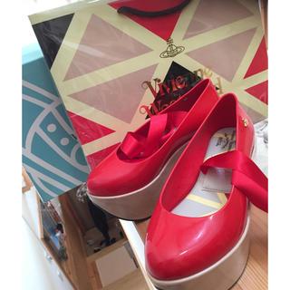 ヴィヴィアンウエストウッド(Vivienne Westwood)のメリッサ ロッキンホース 赤サイズ5 美品 12月25日まで出品(ハイヒール/パンプス)