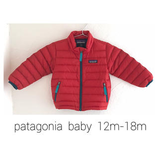 美品人気!パタゴニア ベビー 12-18m ダウン セーター 赤
