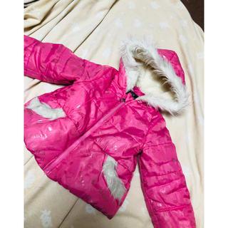 ナルミヤ インターナショナル(NARUMIYA INTERNATIONAL)のcute paradiseファーフード付ダウンコートジャケットピンク女子95cm(ジャケット/上着)