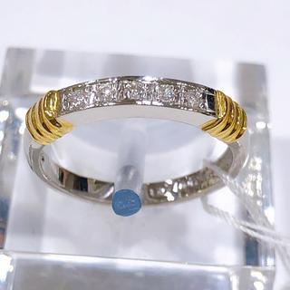PT900 K18 ダイヤモンド コンビリング(リング(指輪))