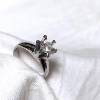 アッシュペーフランス(H.P.FRANCE)のvintage ring アンティーク 天然石 リング シルバーカラー(リング(指輪))