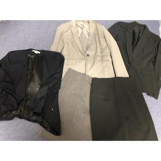 スーツ上下セット ジャケット スカート5点セット(スーツ)