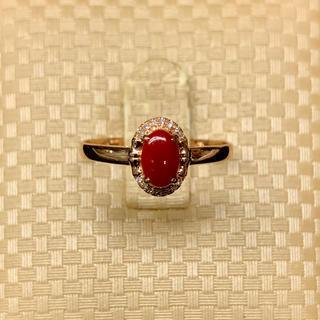 【年末特価】血赤珊瑚 18K リング (リング(指輪))