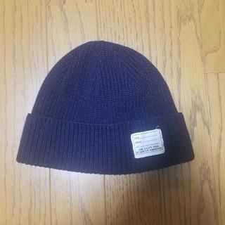 ウィゴー(WEGO)の薄手ニット帽ネイビー サマーニット帽(ニット帽/ビーニー)