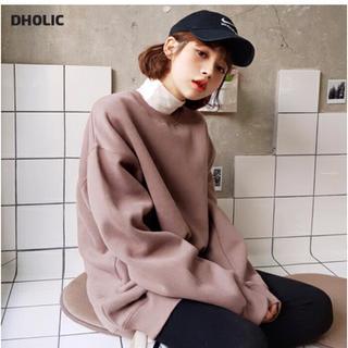 dholic - ♡ディーホリック 裏起毛スウェットトップス(未使用)♡