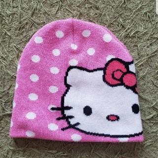 エイチアンドエム(H&M)のH&M✖️キティちゃん☆ニット帽☆帽子☆ピンクドット(帽子)