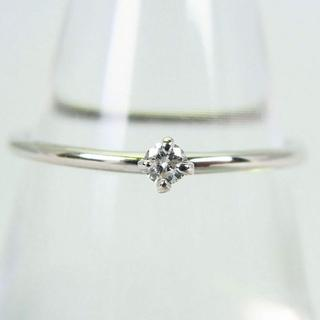 K18WG ダイヤモンド リング 9号 [g115-6](リング(指輪))