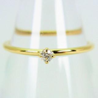 K18YG ダイヤモンド リング 7号 [g115-9](リング(指輪))