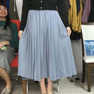 シンデレラプリーツロングスカート シンデレラブルー(ロングスカート)