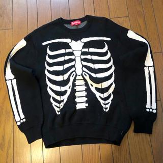 Supreme - supreme シュプリーム bone ボーン 骨 スエット セーター 黒