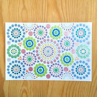 ◆グリーン◆Dot Circle(カード/レター/ラッピング)