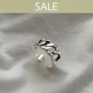 アングリッド(Ungrid)の【週末SALE】925 wide chain ring 🌠 2点限定(リング(指輪))