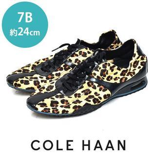Cole Haan - 美品❤️コールハーン NIKE AIR ハラコ ヒョウ スニーカー 7B(約24