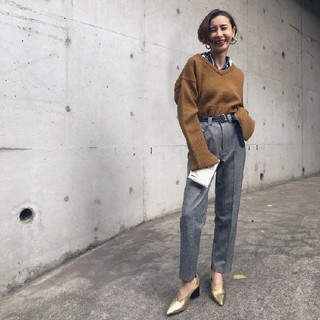Ameri VINTAGE - アメリヴィンテージ BELT POINT TAPERED PANTS