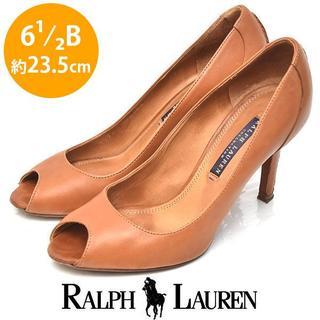 ラルフローレン(Ralph Lauren)のラルフローレン オープントゥ パンプス 6 1/2B(約23.5cn)(ハイヒール/パンプス)