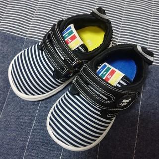 IFME Light 子供靴 スニーカー 14.0cm ブラック ボーダー 黒
