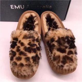 エミュー(EMU)の発送お休みセール新品emu シープスキン スエードモカシン  (スリッポン/モカシン)