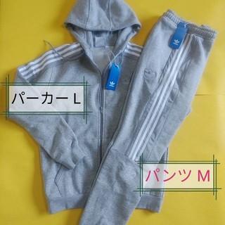 アディダス(adidas)のアディダス adidas スウェット上下 M、パーカー L、パンツ M、裏起毛(パーカー)