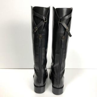 サルトル(SARTORE)の美品 37 SARTORE サルトル シングルベルト  ロングブーツ  黒 24(ブーツ)