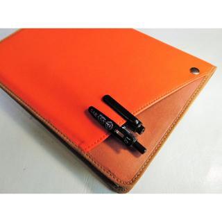2冊用【B6 Cover pocketノートカバー】ミリオン■オレンジヌメ(その他)