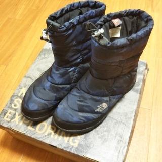 ザノースフェイス(THE NORTH FACE)のノースフェイスブーツ【27cm、ネイビーカモ柄】(ブーツ)
