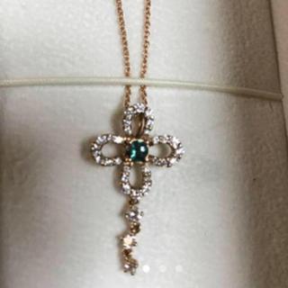 JEWELRY TSUTSUMI - k18  ダイアモンド&タンザナイト ネックレス