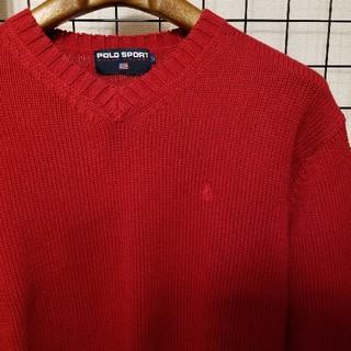 ポロラルフローレン(POLO RALPH LAUREN)のPOLO SPORT RALPH LAUREN ポニー刺繍 Vネックニット(ニット/セーター)
