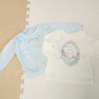 マザウェイズ(motherways)のマザウェイズ 水色トレーナーと長袖トップス 90cm(Tシャツ/カットソー)