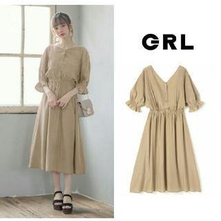 GRL - 【完売品】GRL  バックリボンワンピース  ベージュ