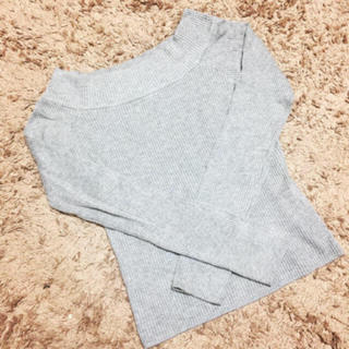 Avail - Avail*グレーリブTOPS*美品