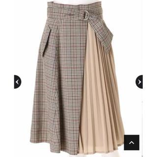ジャスグリッティー(JUSGLITTY)の雑誌掲載♡未使用チェックプリーツスカート(ひざ丈スカート)