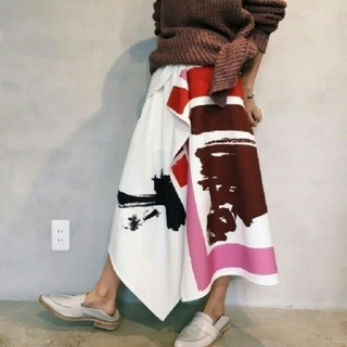 Ameri VINTAGE - Ameri レア♥ペイント ラップスカート