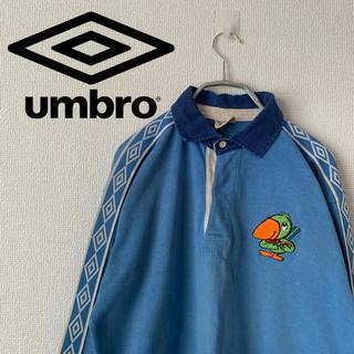 アンブロ(UMBRO)のアンブロ ヴィンテージ ラガーシャツ  刺繍ロゴ ゆるだぼ 長袖 希少 激レア(スウェット)