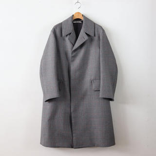 コモリ(COMOLI)の18aw Auralee DOUBLE FACE CHECK LONG COAT(ステンカラーコート)