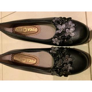 24.5黒靴(ハイヒール/パンプス)