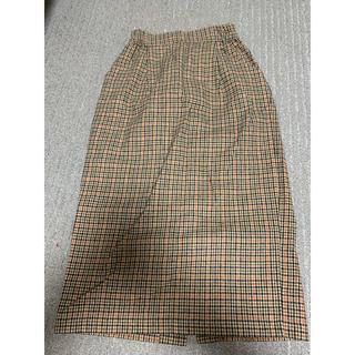 ローリーズファーム(LOWRYS FARM)のLOWRYS FARM ウール混チェックスカート(ひざ丈スカート)