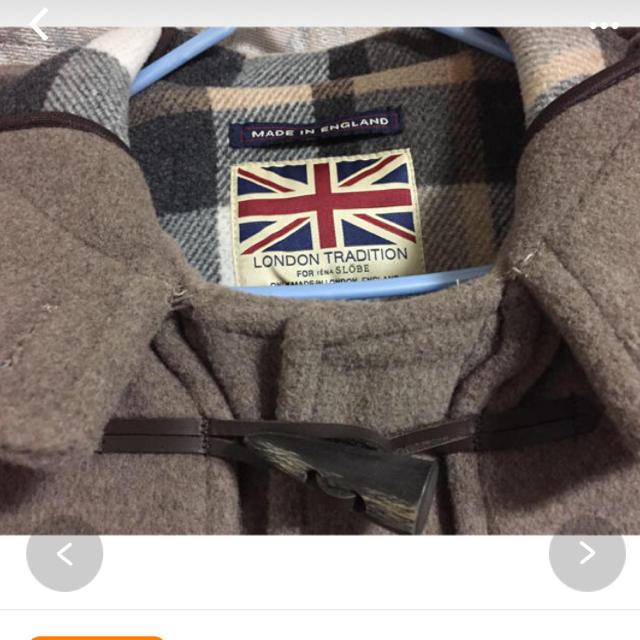 IENA SLOBE(イエナスローブ)のLONDON TRADITION 別注ロングダッフルコート ベージュ34 レディースのジャケット/アウター(ダッフルコート)の商品写真