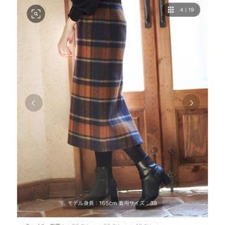 ロペピクニック(Rope' Picnic)のビッグチェックアイラインスカート(ロングスカート)