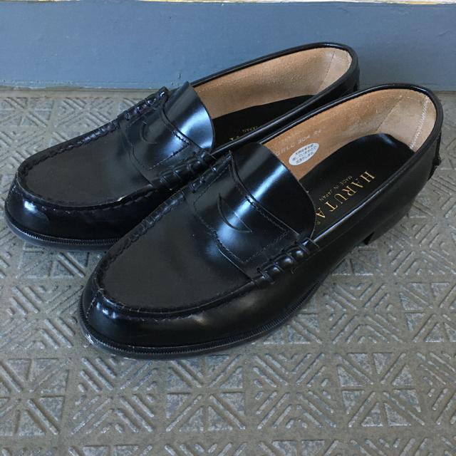 HARUTA(ハルタ)のハルタ ローファー haruta 黒 本革 本皮 24.0 ワイド WIDE レディースの靴/シューズ(ローファー/革靴)の商品写真