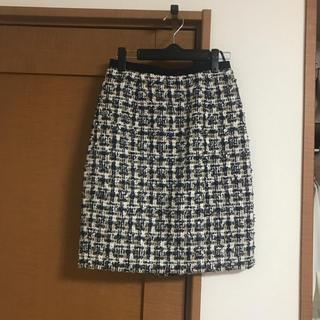 ジャスグリッティー(JUSGLITTY)のファンシーツィードタイトスカート(ひざ丈スカート)