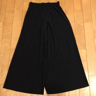 ザラキッズ(ZARA KIDS)のザラ プリーツ ガウチョ パンツ ブラック 164cm 未使用 (カジュアルパンツ)
