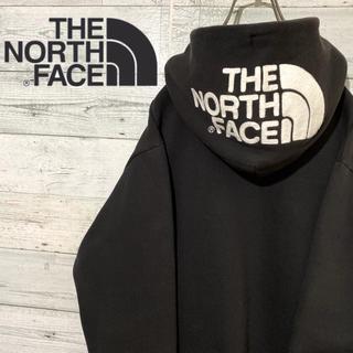 THE NORTH FACE - 【激レア】ザノースフェイス☆正規品 刺繍ビッグロゴ フルジップ パーカー