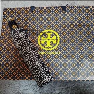 Tory Burch - 新品未使用 トリーバーチ ロゴ 総柄 傘 折り畳み