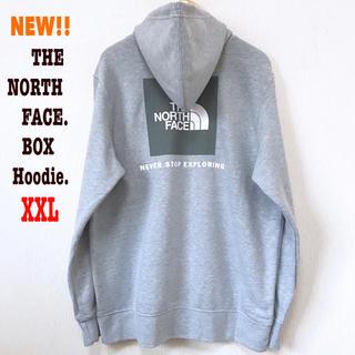 THE NORTH FACE - XXL相当 新品 ノースフェイス BOXロゴ パーカー メンズ ライトグレー