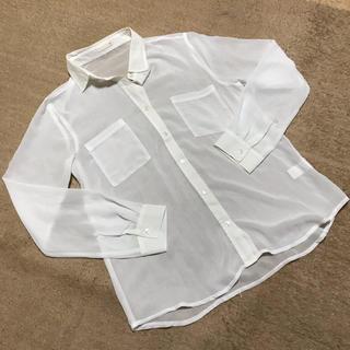 ジーユー(GU)のGU◎白シフォンシャツ(シャツ/ブラウス(長袖/七分))