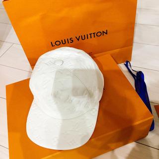ルイヴィトン(LOUIS VUITTON)のVUITTON☆キャップ White(キャップ)