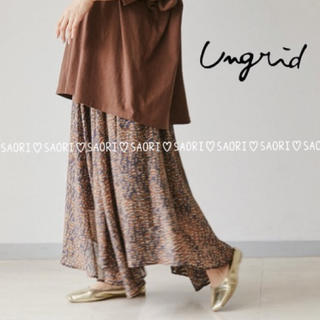 Ungrid - ungrid【新品タグ付】シフォンイレヘムスカート★TODAYFUL